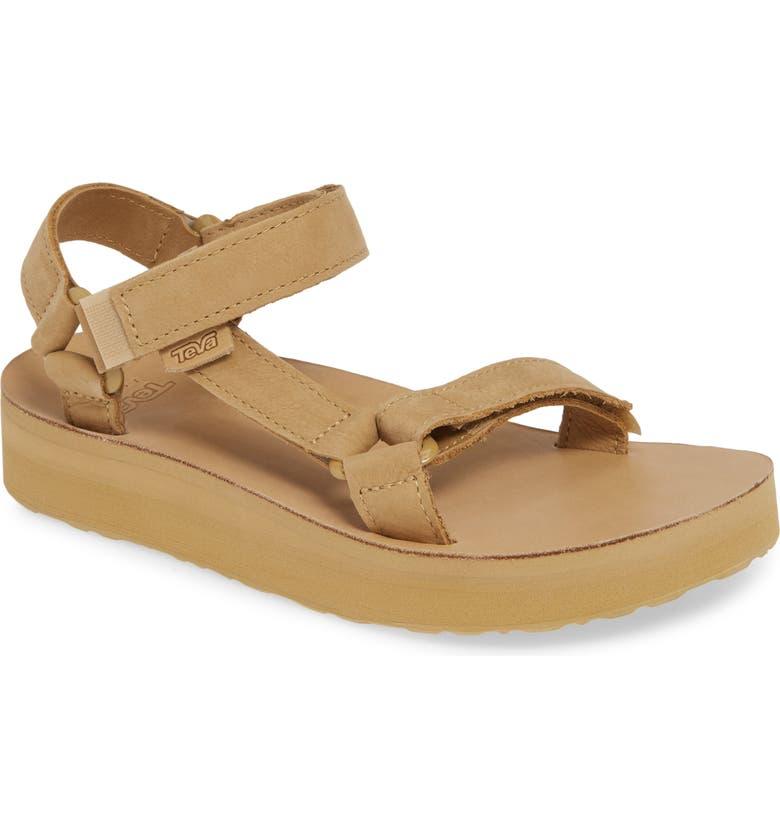 TEVA Midform Universal Sandal, Main, color, DESERT SAND LEATHER
