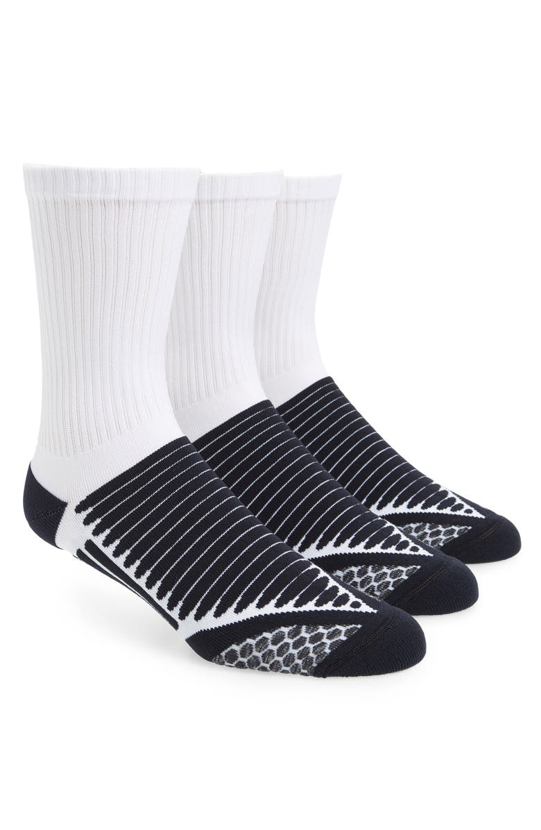 ZELLA 3-Pack Crew Socks, Main, color, WHITE