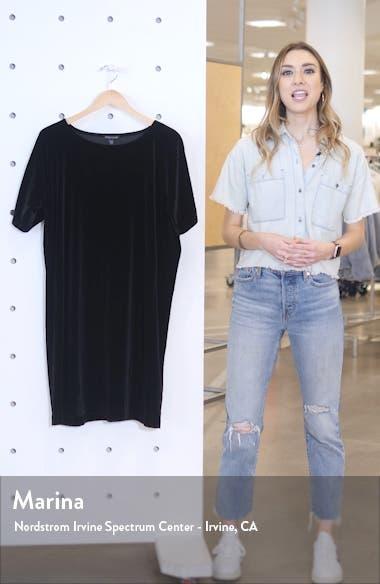 Stretch Velvet Shift Dress, sales video thumbnail