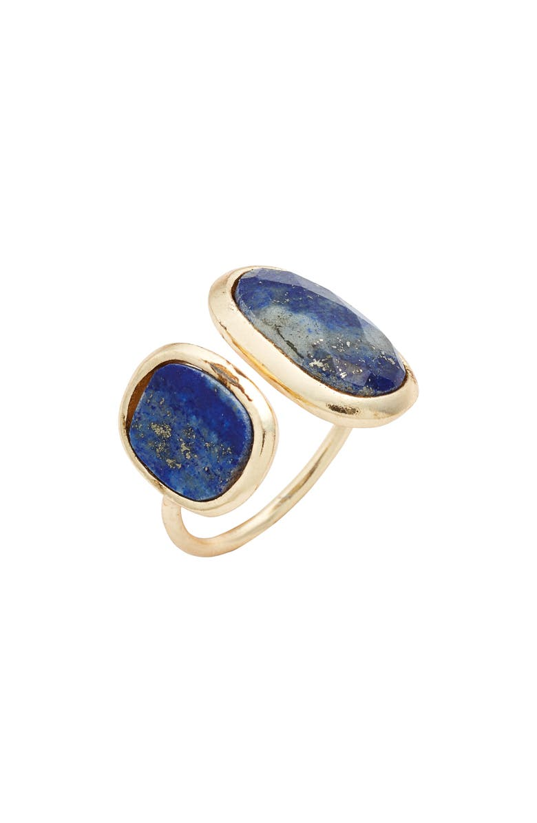 COLLECTIONS BY JOYA Double Lapis Open Ring, Main, color, 400