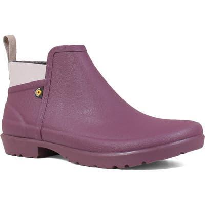 Bogs Flora Waterproof Rain Boot, Purple