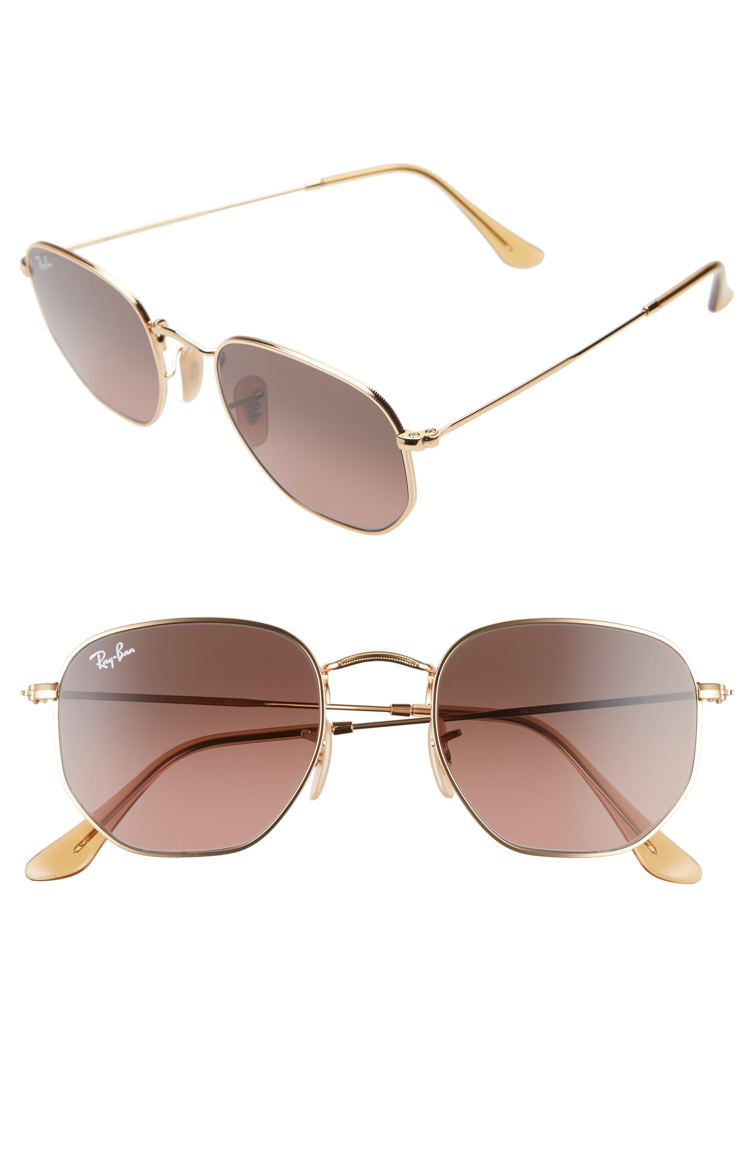 Ray-Ban 51Mm Aviator Sunglasses - Gold/ Brown Gradient