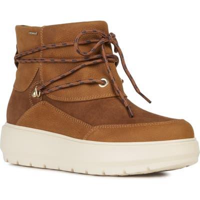 Geox Kaula Waterproof Bootie - Brown