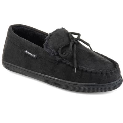 Thomas And Vine Orion Moccasin Slipper With Faux Fur