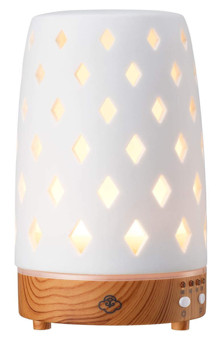 SERENE HOUSE Ultrasonic Cool Mist Diamond 90 Aromatherapy Diffuser, Main, color, CERAMIC