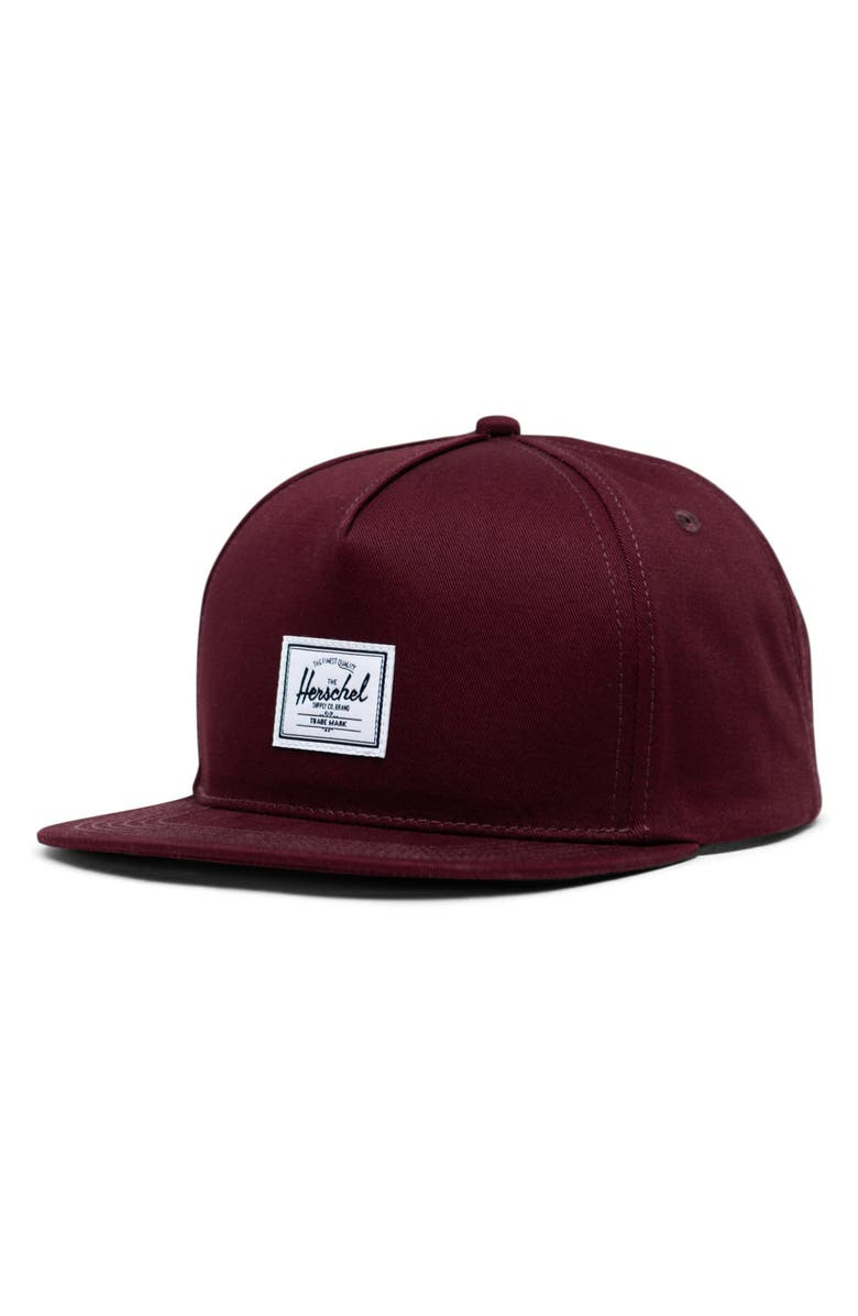 HERSCHEL SUPPLY CO. Dean Snapback Baseball Cap, Main, color, PLUM