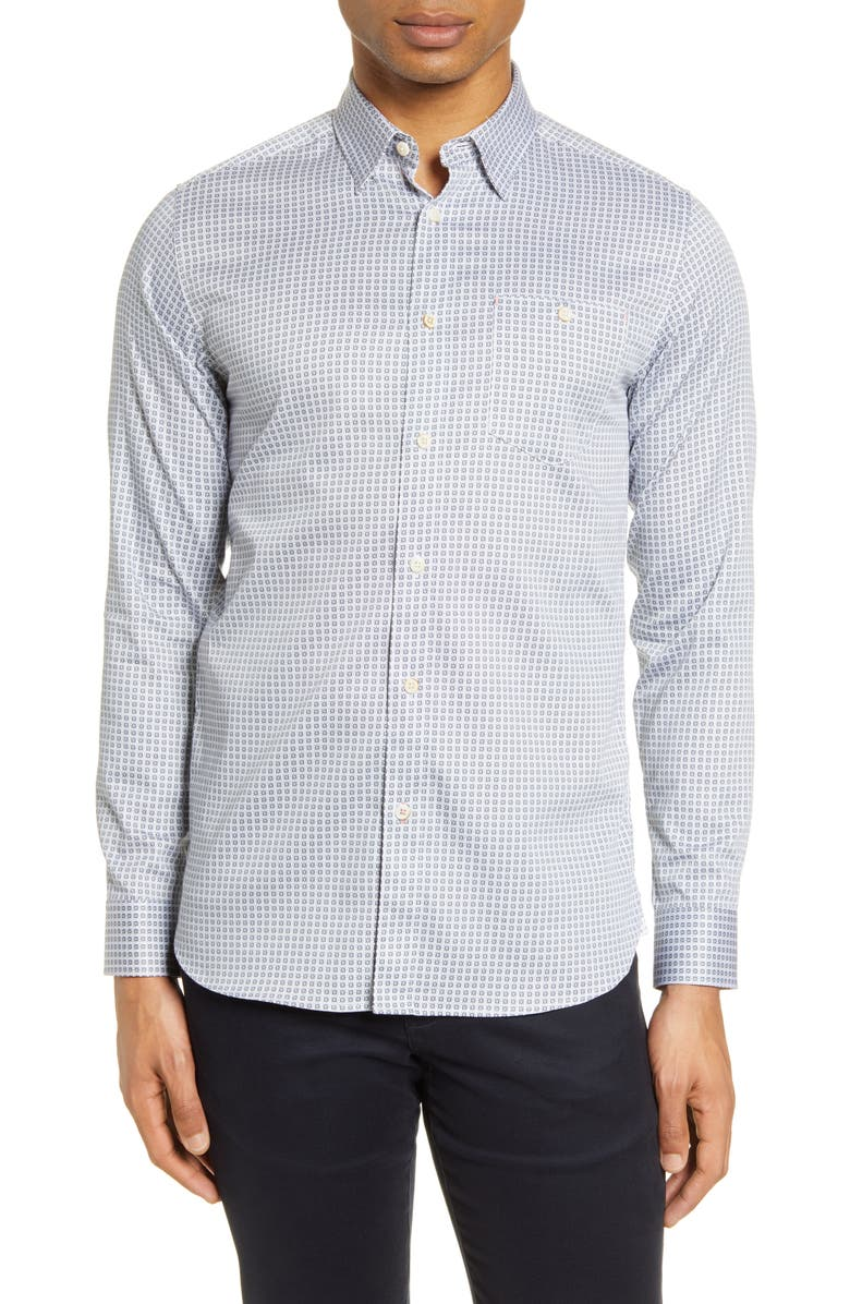 TED BAKER LONDON Nochoc Slim Fit Button-Up Shirt, Main, color, WHITE