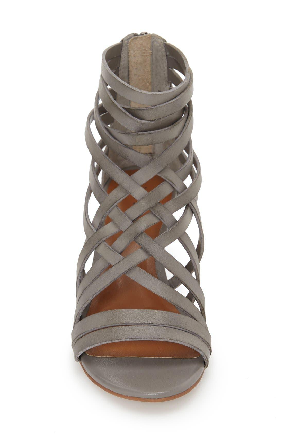 ,                             'Neta' Leather Wedge Sandal,                             Alternate thumbnail 7, color,                             022