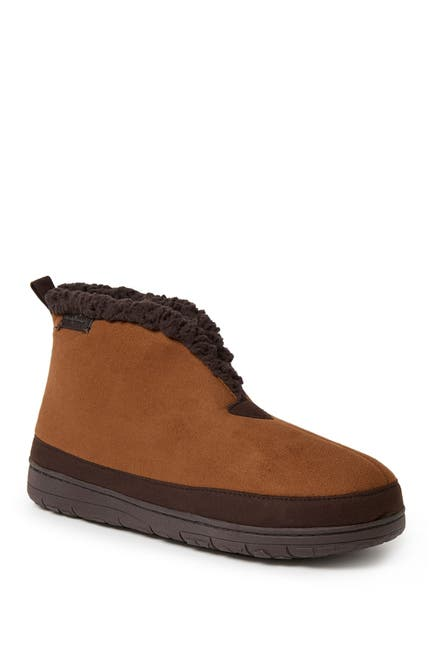 Image of Dearfoams Microsuede Faux Shearling Lined Boot