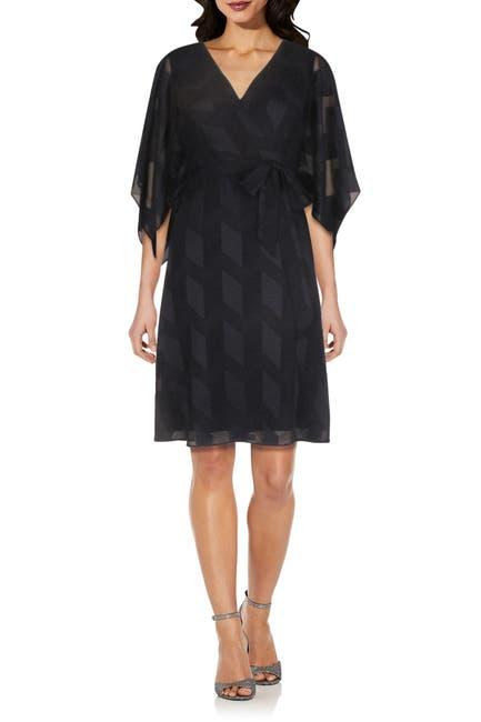Image of Adrianna Papell Geometric Waist Tie Dress