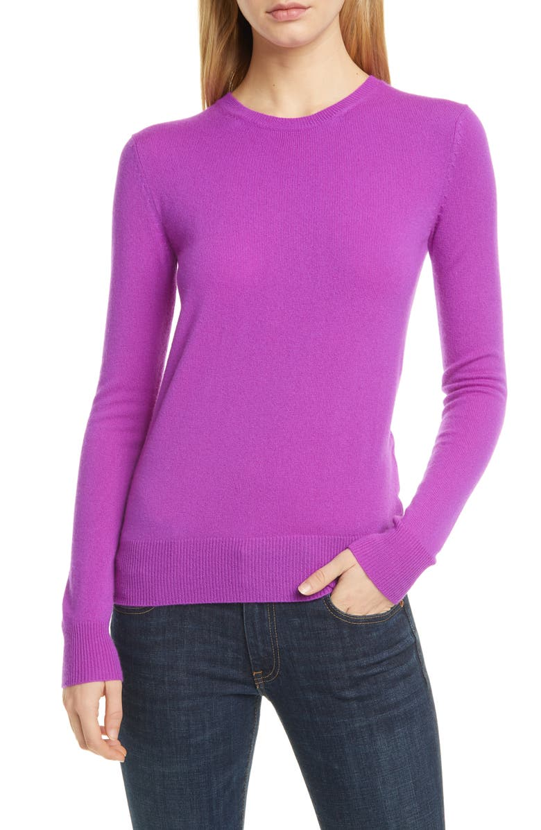 POLO RALPH LAUREN Long Sleeve Cashmere Sweater, Main, color, ULTRA PURPLE