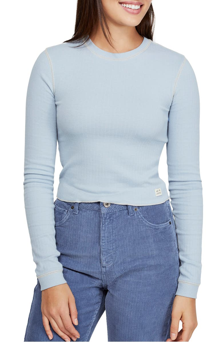 BDG Urban Outfitters Contrast Stitch Tee, Main, color, LIGHT BLUE