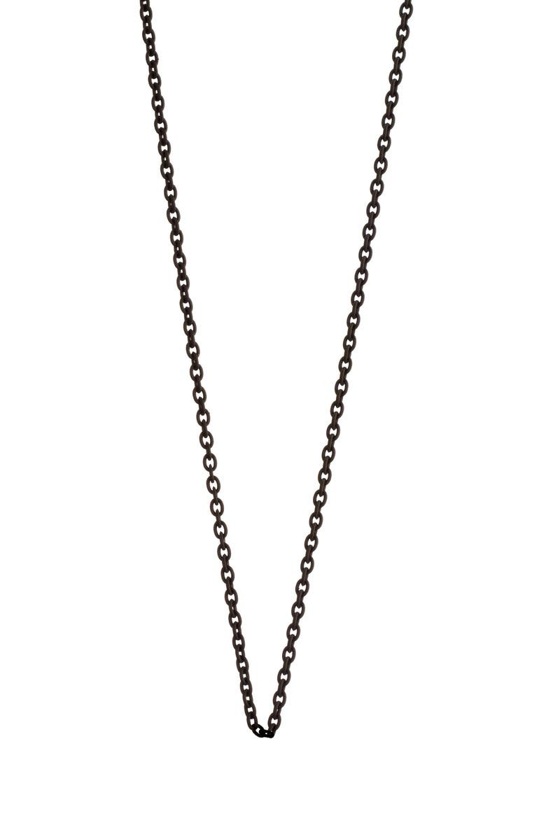 MONICA RICH KOSANN Delicate Black Steel Chain, Main, color, BLACK STEEL