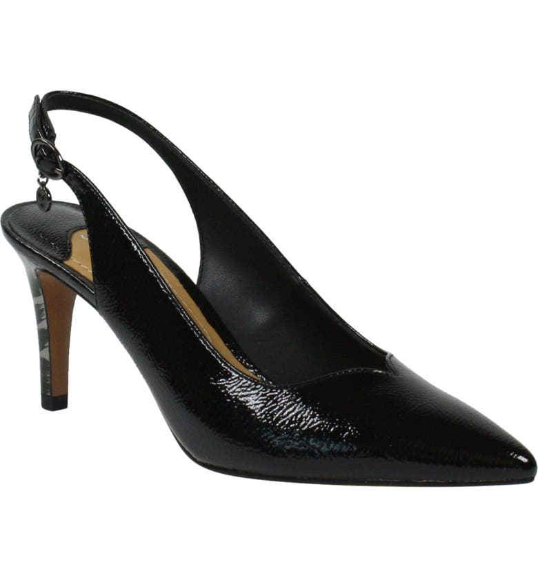J. RENEÉ J. Renée Belamie Slingback Pump, Main, color, BLACK FAUX PATENT LEATHER