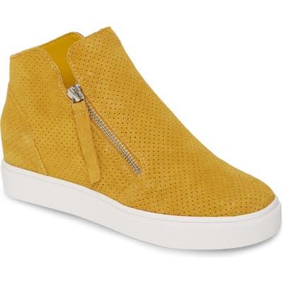 Steve Madden Caliber High Top Sneaker, Yellow
