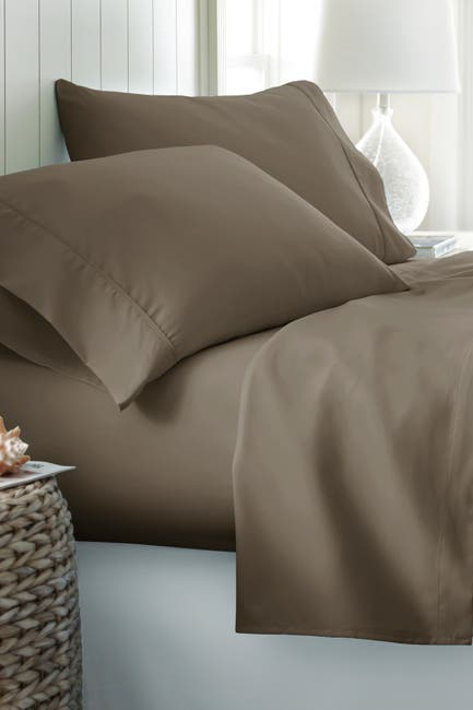 Image of IENJOY HOME Queen Hotel Collection Premium Ultra Soft 4-Piece Bed Sheet Set - Taupe