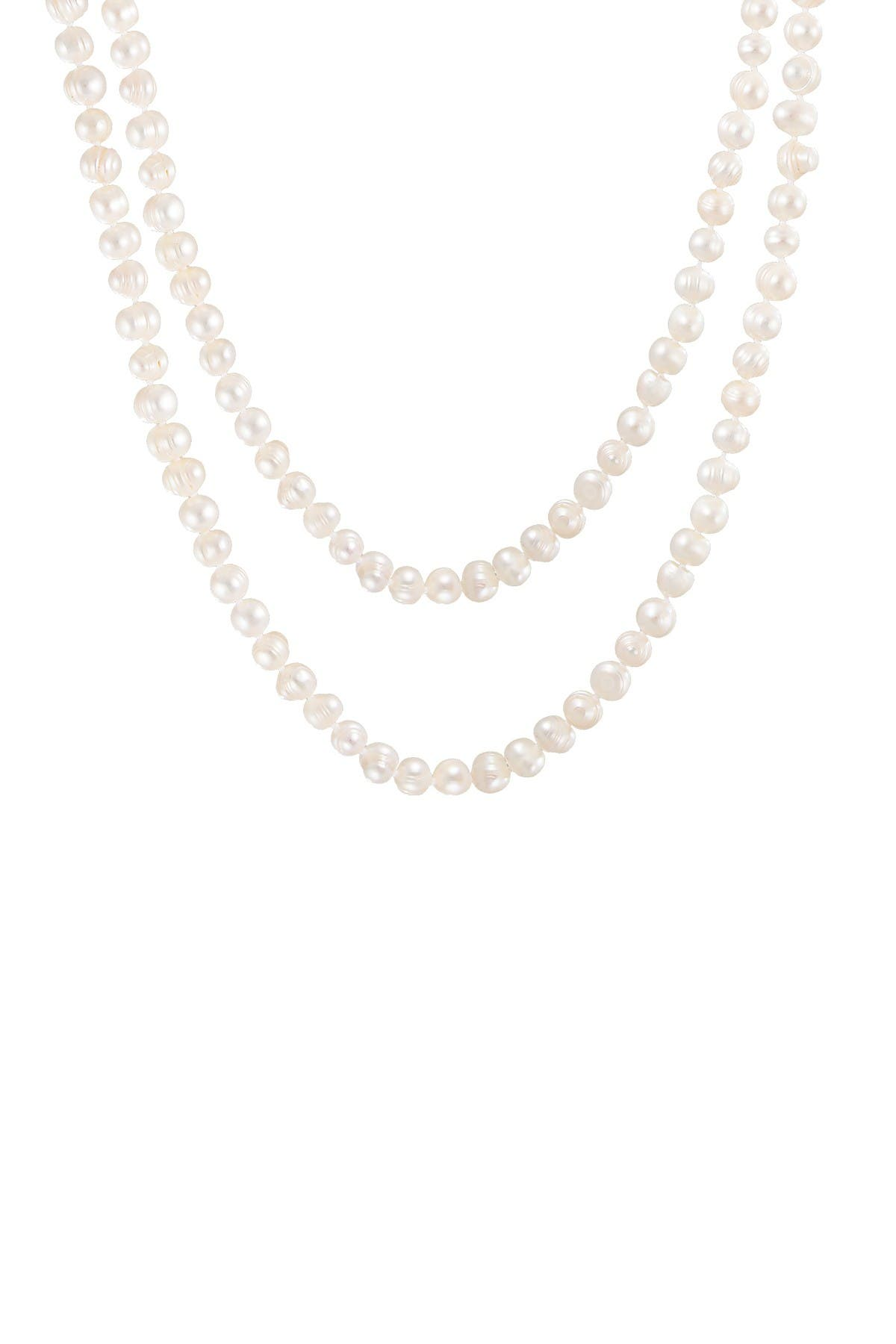 Splendid Pearls 7-8mm Natural White Cultured Freshwater Pearl Necklace at Nordstrom Rack