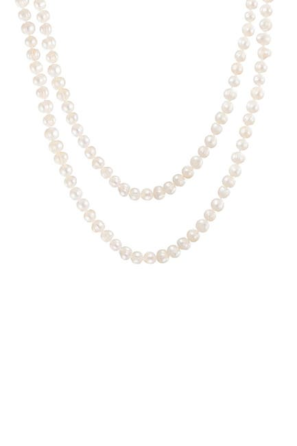 Image of Splendid Pearls 7-8mm Natural White Cultured Freshwater Pearl Necklace