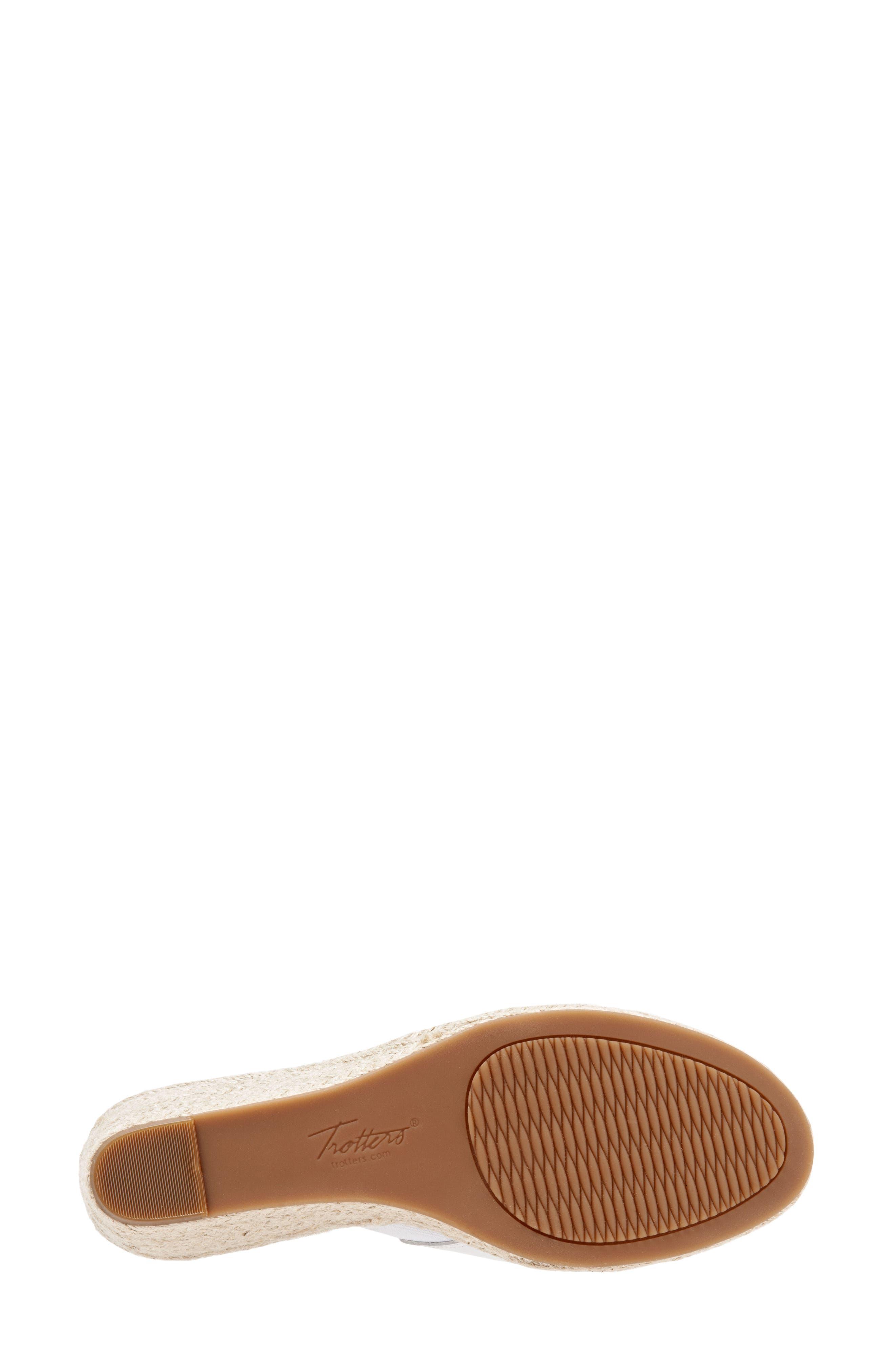 ,                             Colony Wedge Slide Sandal,                             Alternate thumbnail 6, color,                             WHITE LEATHER