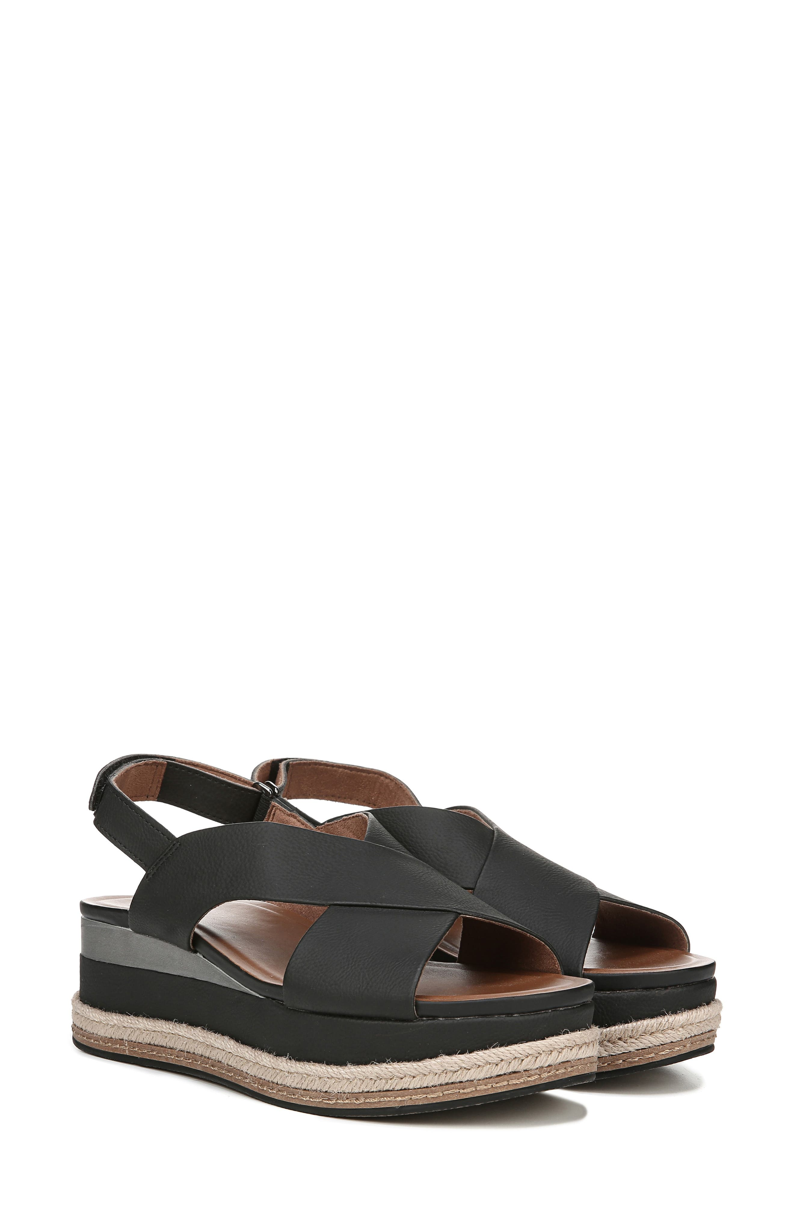 ,                             Baya Espadrille Wedge Sandal,                             Alternate thumbnail 8, color,                             BLACK NUBUCK LEATHER