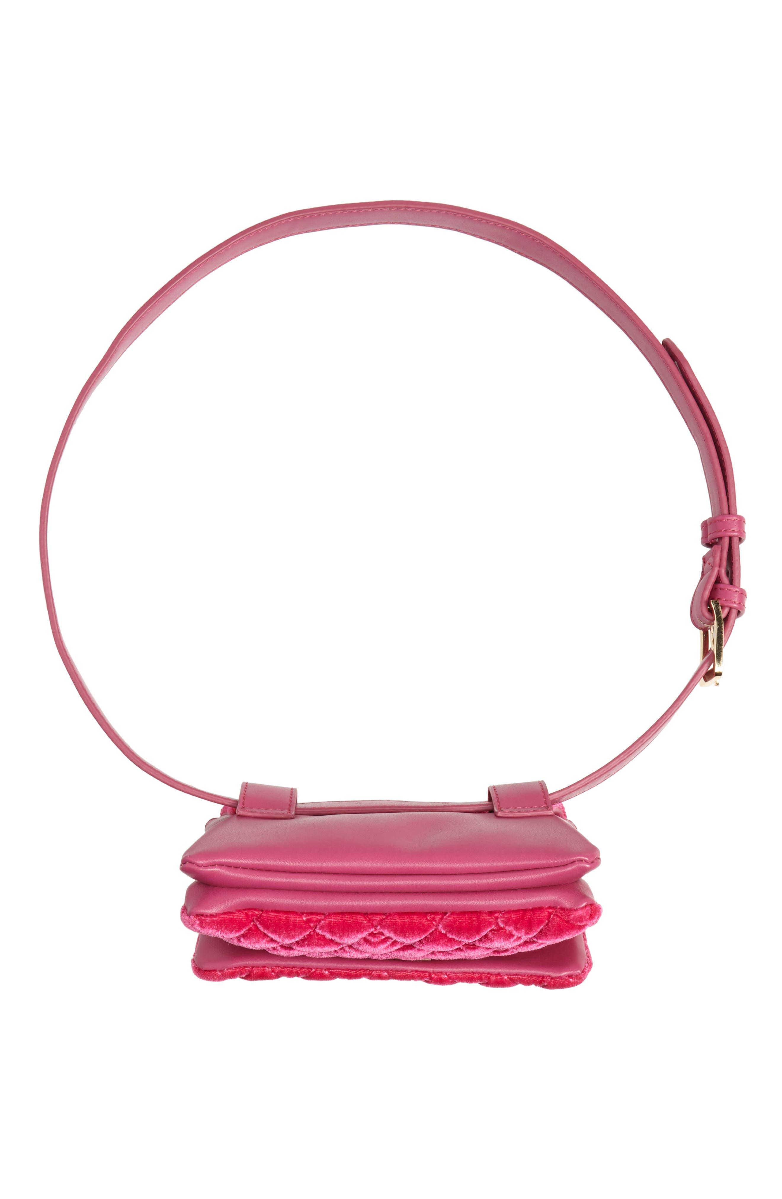,                             Nikki Quilted Velvet Belt Bag,                             Alternate thumbnail 17, color,                             650