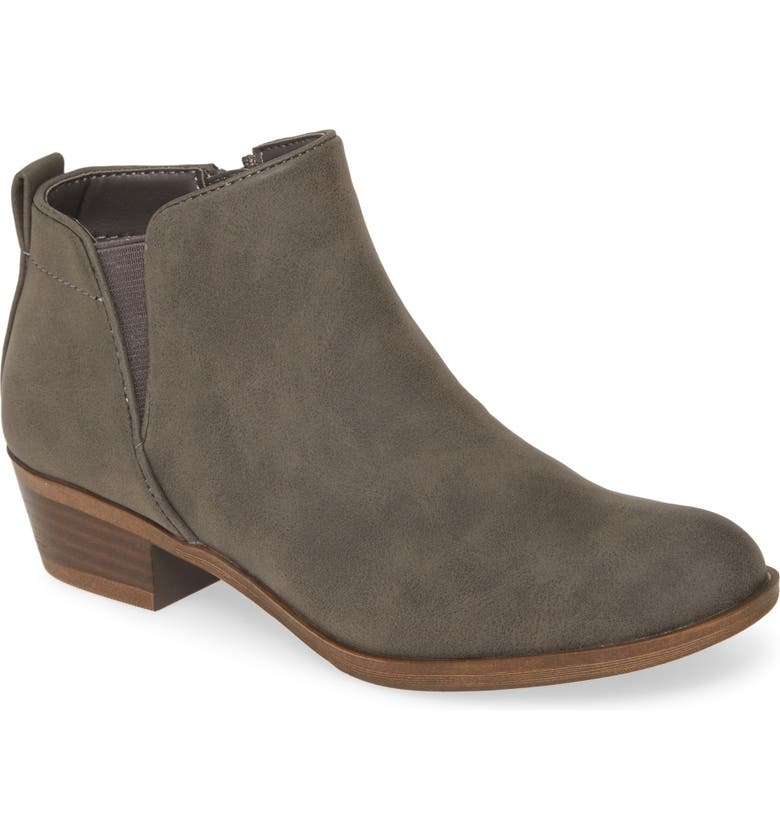 TREASURE & BOND Pistol Bootie, Main, color, GREY FAUX LEATHER