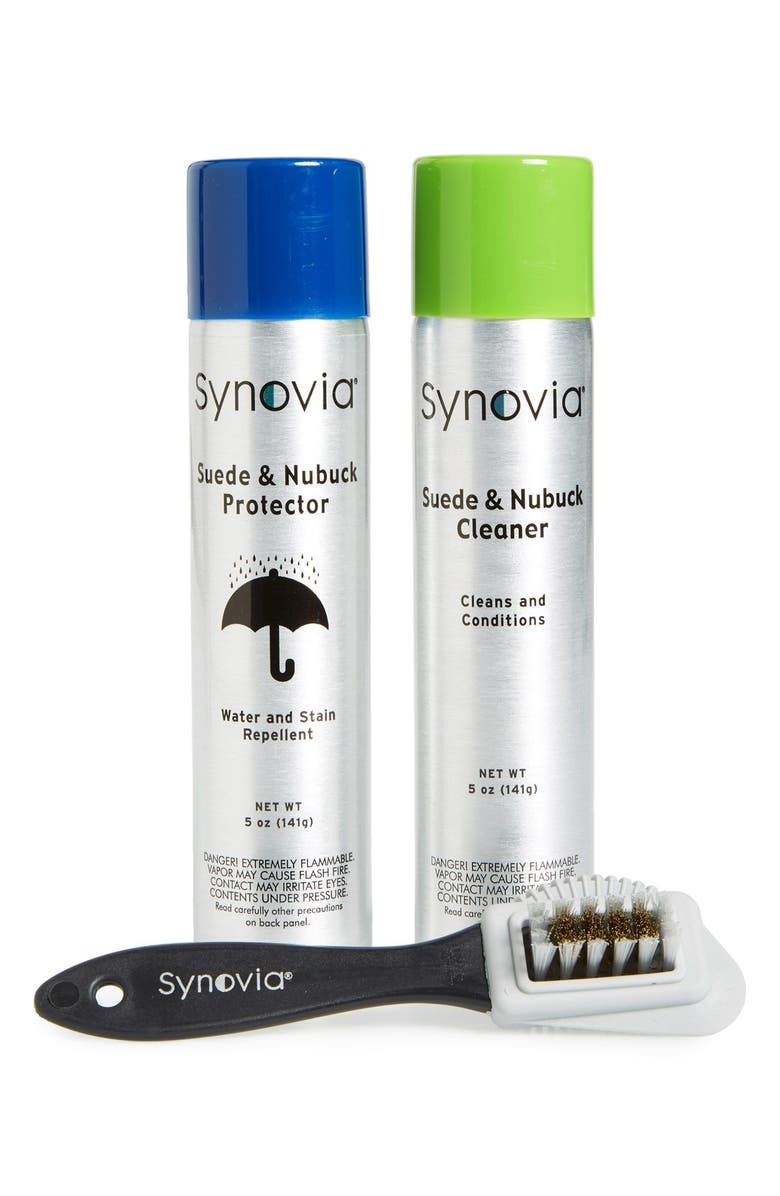 SYNOVIA Suede Cleaning & Protection Kit, Main, color, NO COLOR