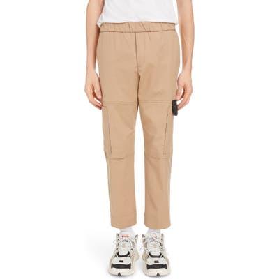 Kenzo Tapered Crop Cargo Pants Beige
