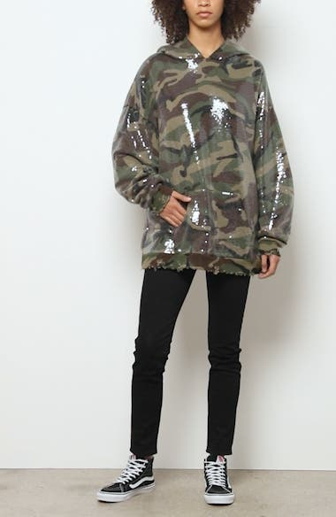 Sequin Camo Print Hoodie, video thumbnail
