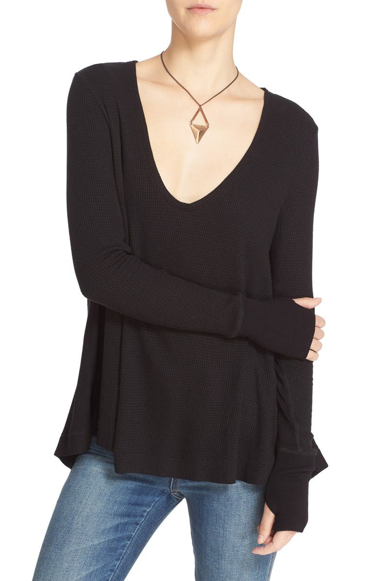 FREE PEOPLE 'Malibu' Thermal Top, Main, color, 001