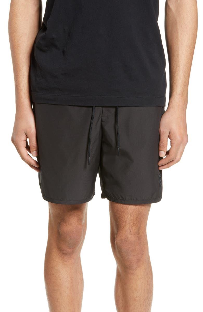 HERSCHEL SUPPLY CO. Voyage Alta Shorts, Main, color, BLACK