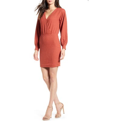 All In Favor Double Rib Minidress, Red