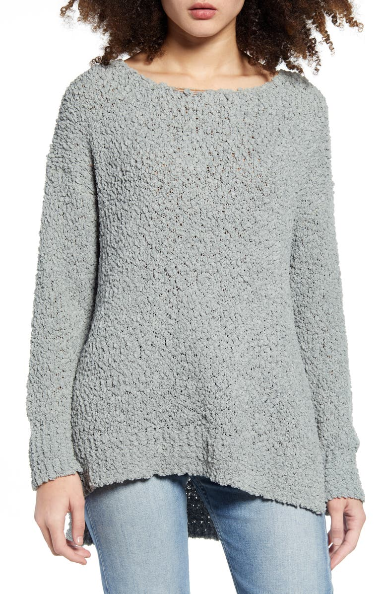 ALL IN FAVOR Tunic Sweater, Main, color, SAGE