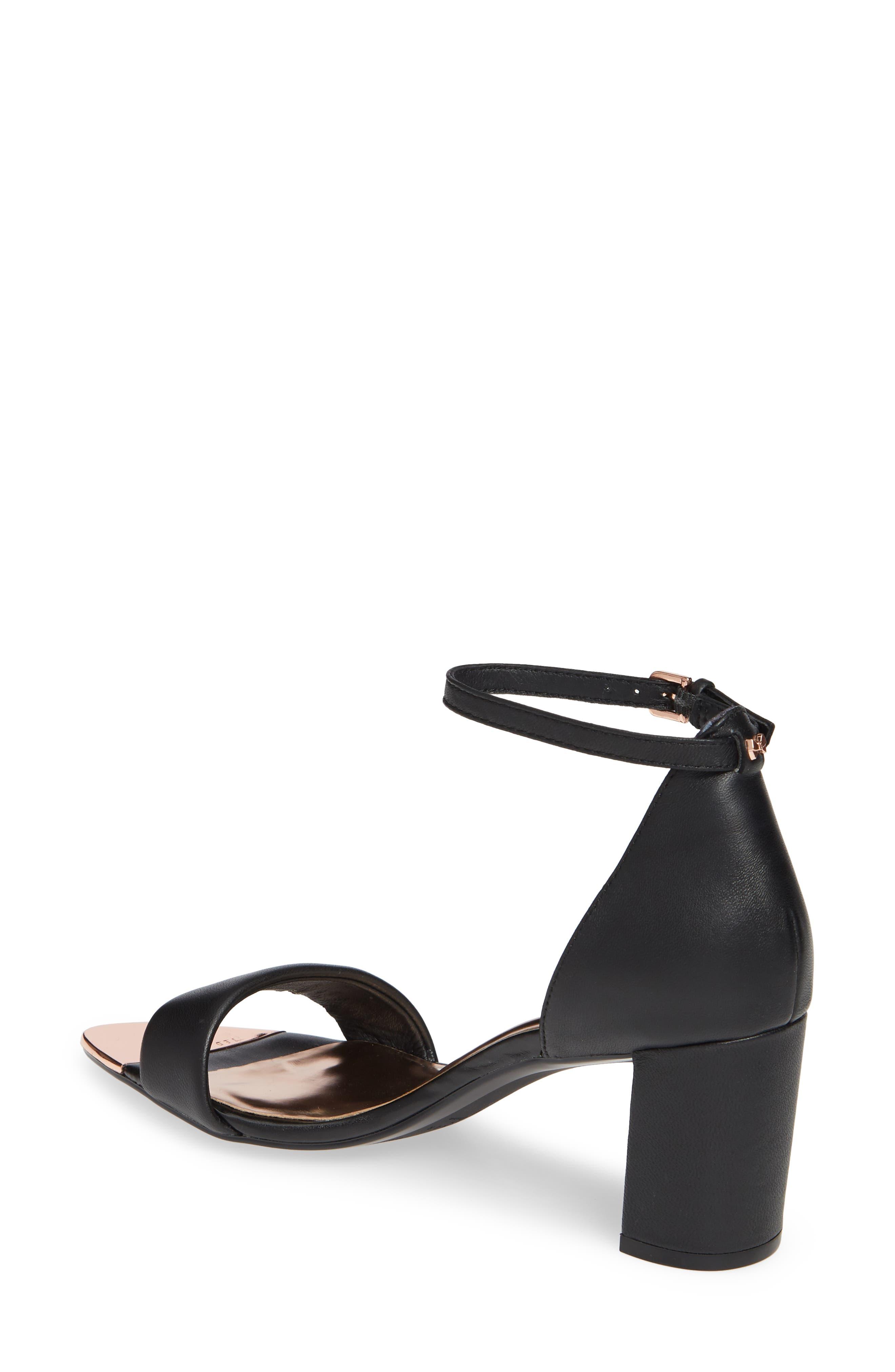 ,                             Shea Ankle Strap Sandal,                             Alternate thumbnail 2, color,                             BLACK LEATHER