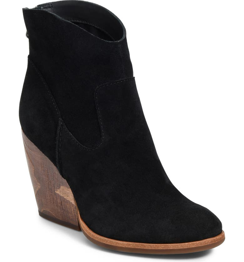 KORK-EASE<SUP>®</SUP> Lapra Bootie, Main, color, BLACK SUEDE