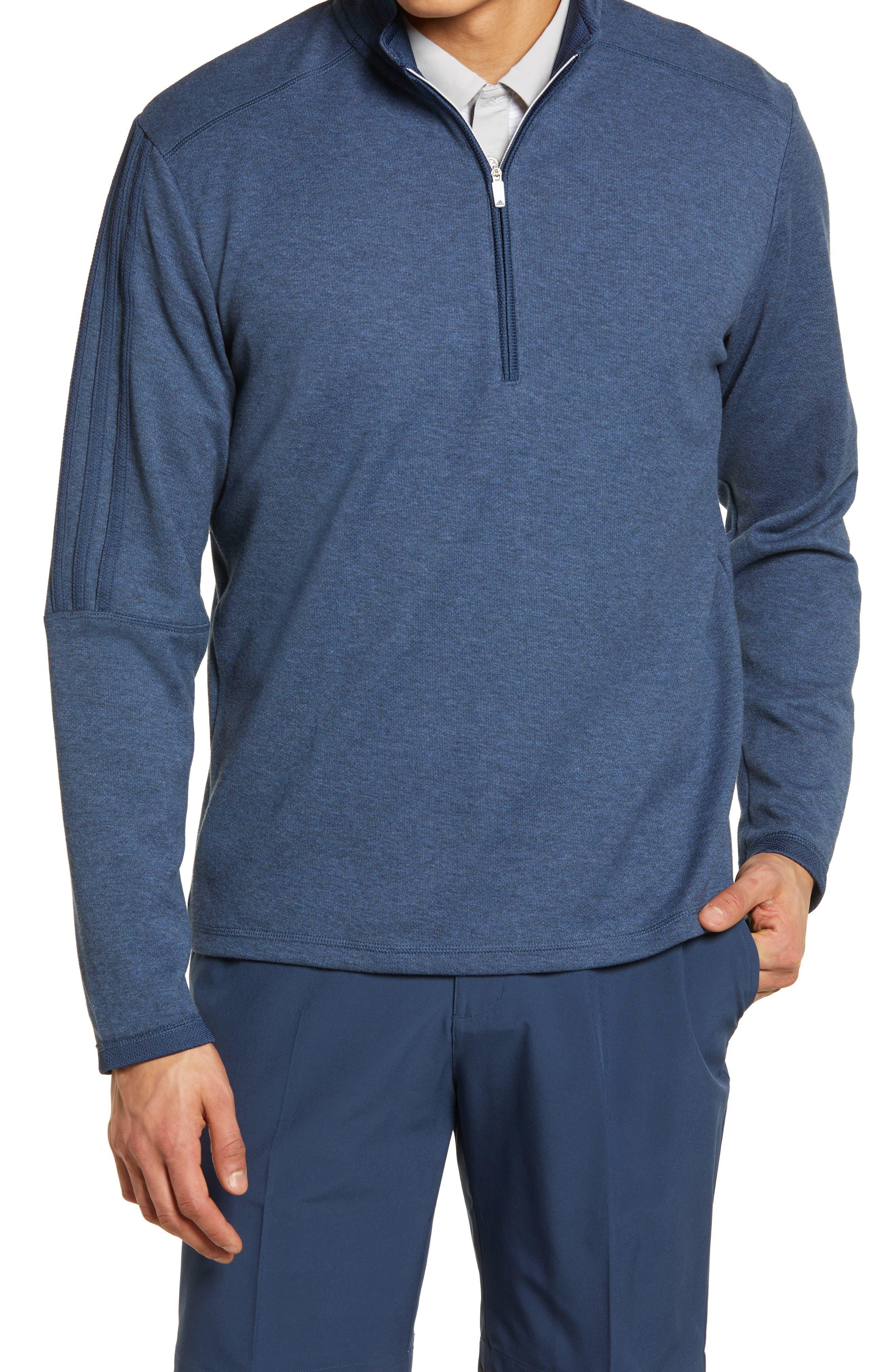 Men's 3-Stripes Quarter Zip Performance Pullover