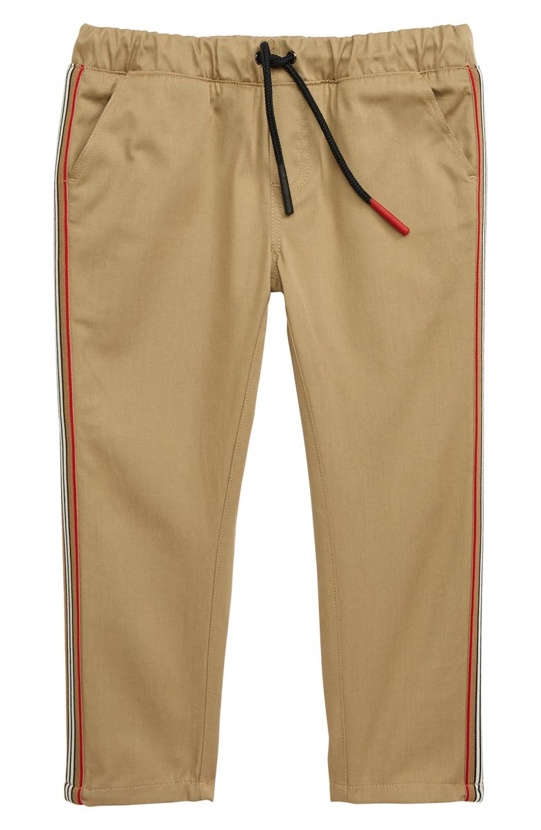 BURBERRY Curran Icon Woven Pants, Main, color, HONEY