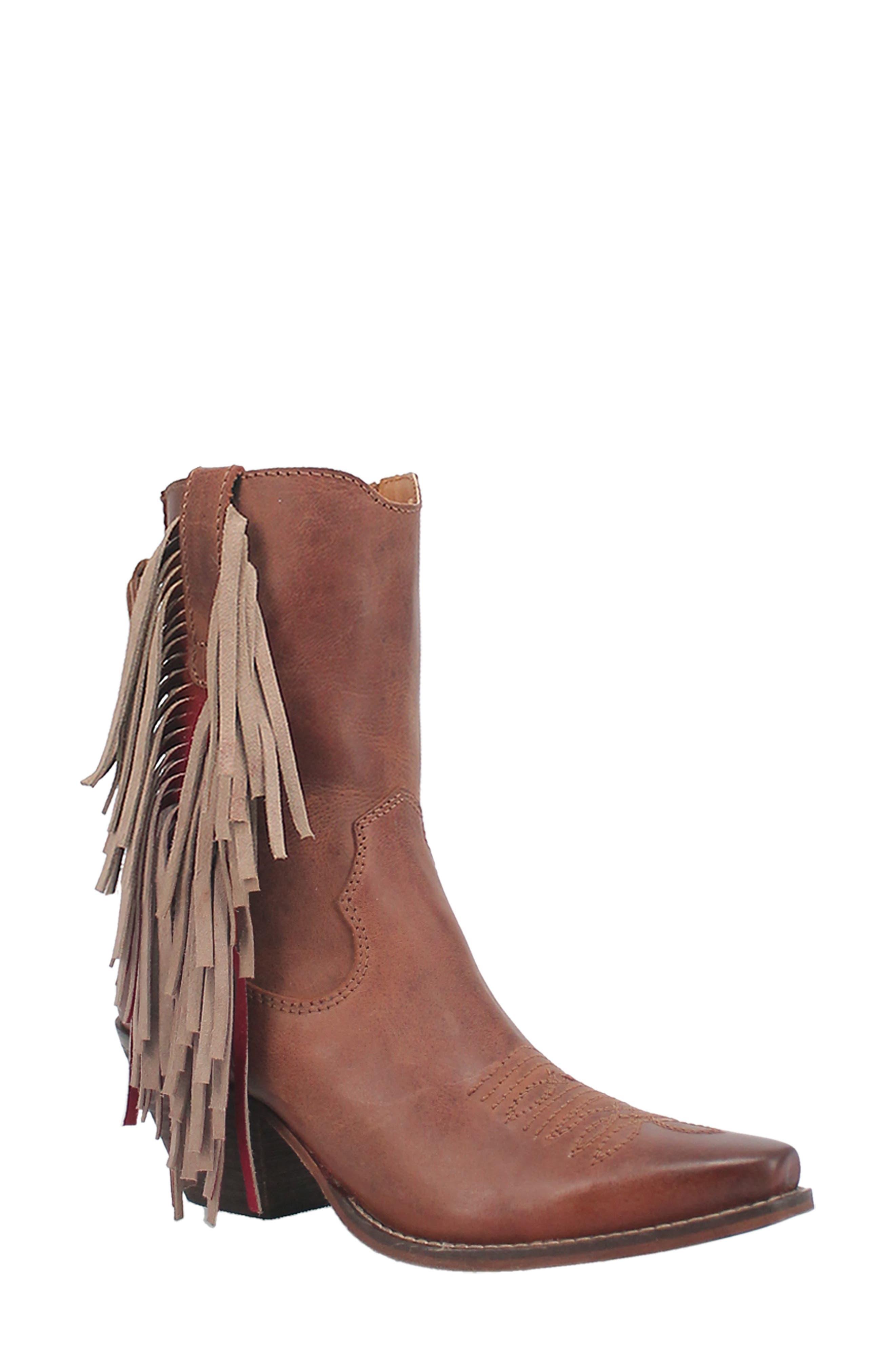 Fringe Benefits Western Boot