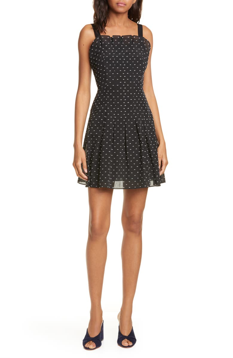 Rebecca Taylor Birds Eye Dot Fit Flare Dress