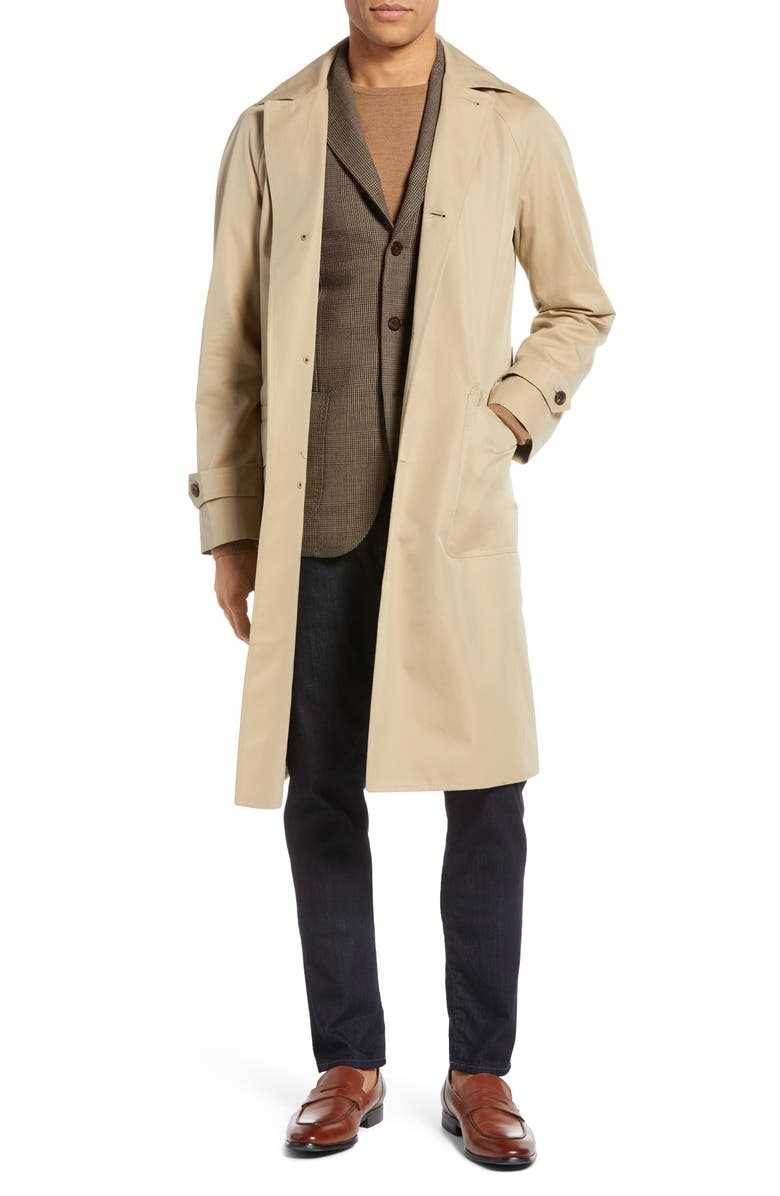RING JACKET Trim Fit Cotton Trench Coat, Main, color, 270