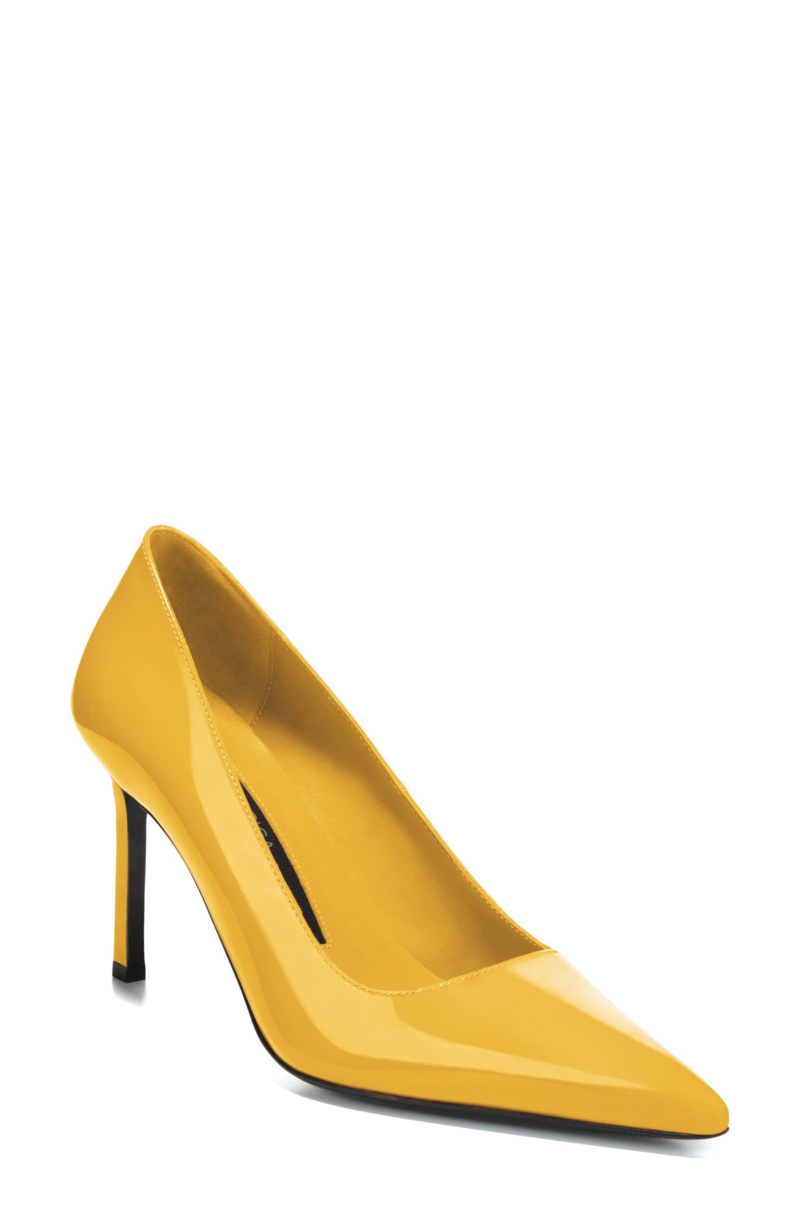 Via Spiga Nikole Pointy Toe Pump, Yellow