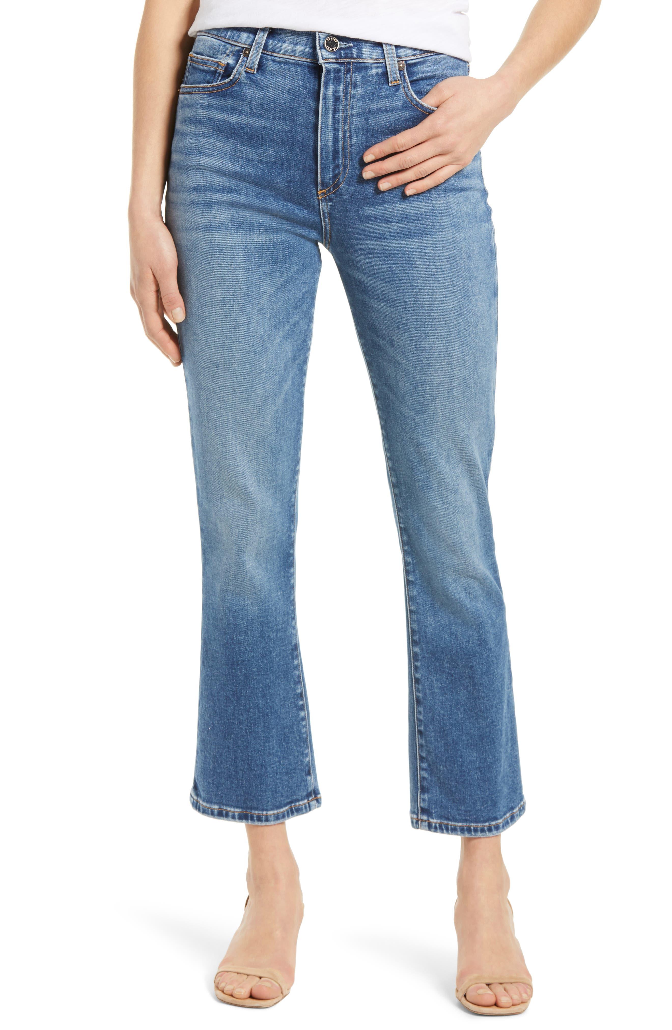Bella High Waist Crop Flare Jeans