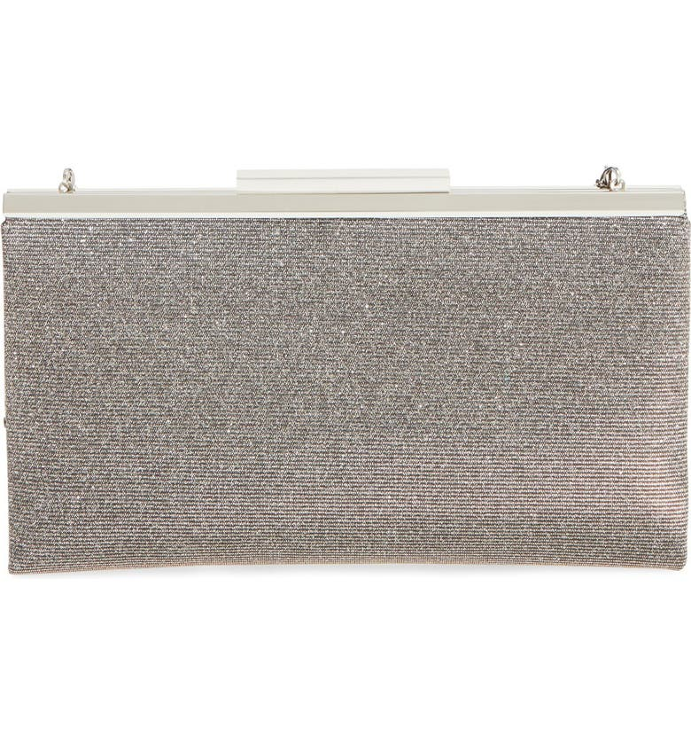 GLINT 'Topper' Glitter Clutch, Main, color, 040