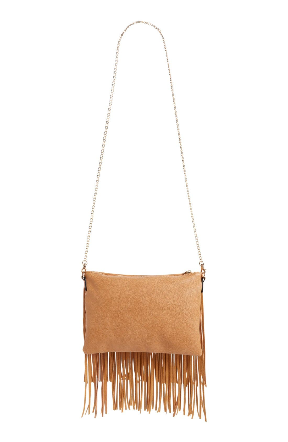 ,                             'Rose' Fringe Faux Leather Convertible Crossbody Bag,                             Alternate thumbnail 12, color,                             232