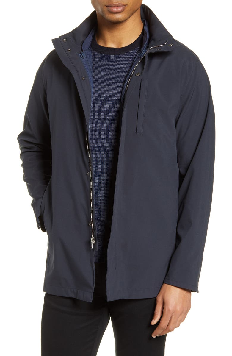 ZACHARY PRELL Piedmonts 3-in-1 Raincoat, Main, color, NAVY