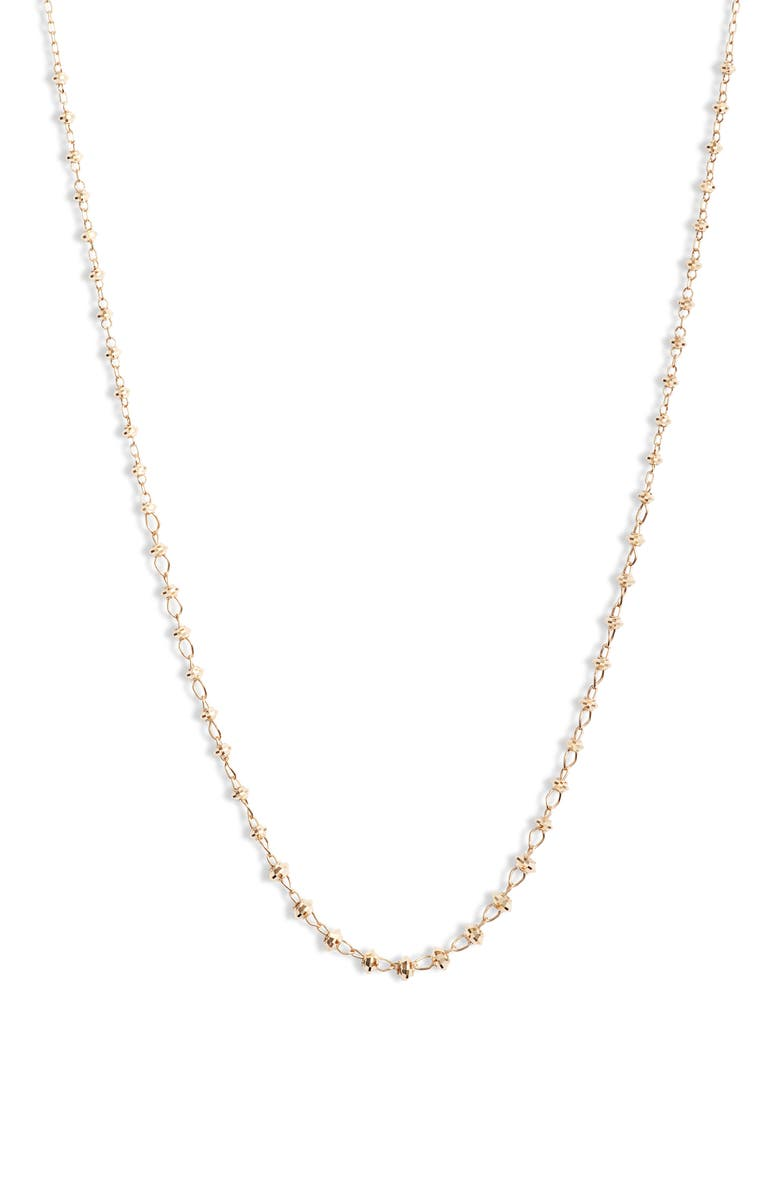 POPPY FINCH Shimmer Necklace, Main, color, YELLOW GOLD