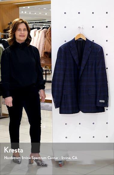 Sienna Soft Classic Fit Plaid Wool Sport Coat, sales video thumbnail