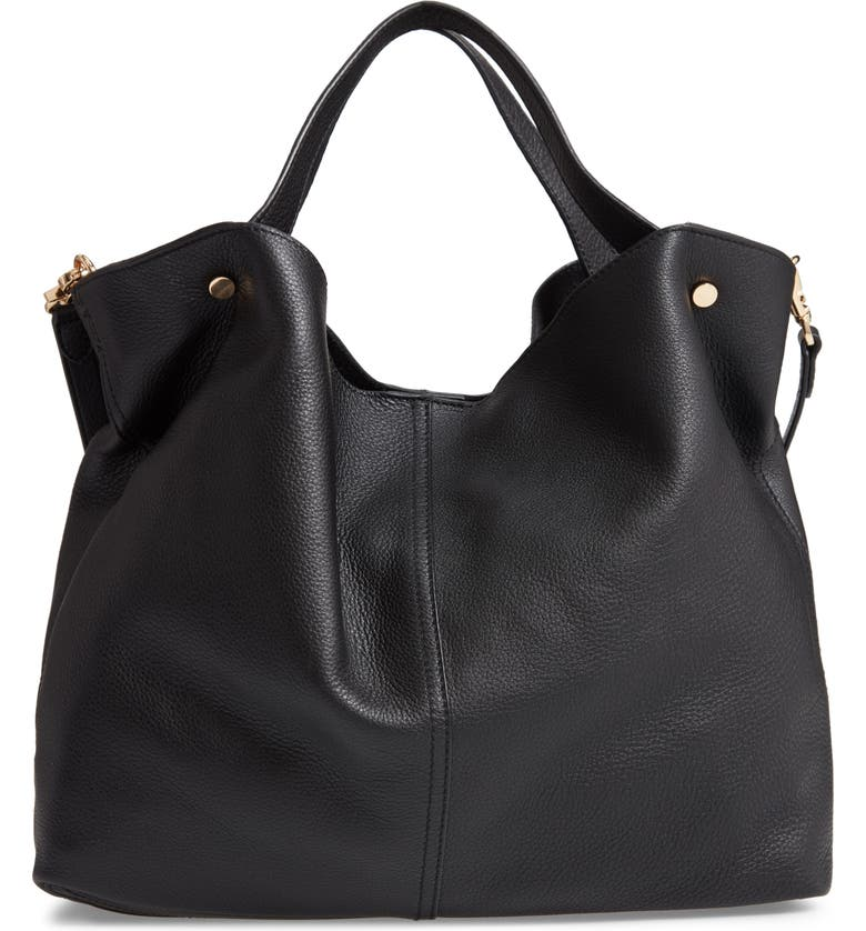 VINCE CAMUTO Niki Leather Tote, Main, color, 001