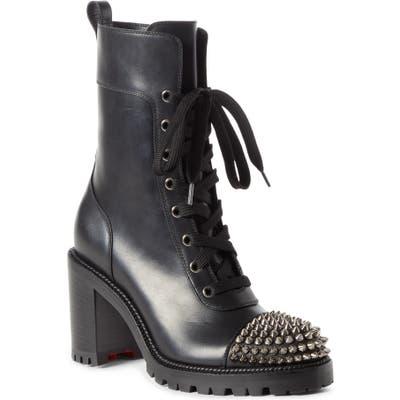 Christian Louboutin Spike Cap Toe Boot - Black