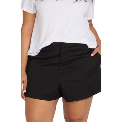 Plus Size Volcom Frochickie Chino Shorts, Black